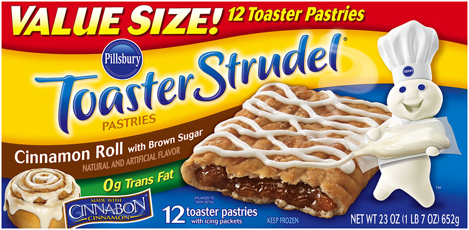 Pillsbury Toaster Strudel® Cinnamon Roll Toaster Pastries 12 ct. Box