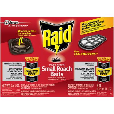 Raid® Double Control Small Roach Baits and Raid® Plus Egg Stoppers™ 0.63 oz. Box