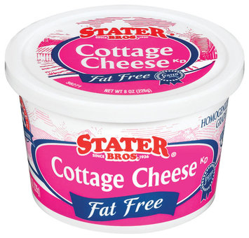 Stater Bros. Fat Free Cottage Cheese 8 Oz Tub