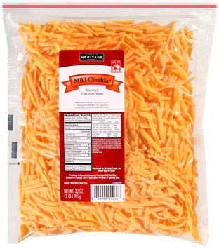 American Heritage® Shredded Mild Cheddar Cheese 32 oz. Bag