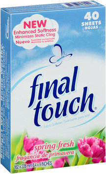 Final Touch® Spring Fresh Fabric Softener 40 ct. Box