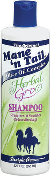 Mane 'n Tail Herbal Gro Olive Oil Complex Shampoo 12 Fl Oz Plastic Bottle