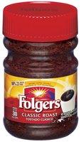 Folgers Classic Roast Instant Coffee 2 Oz Plastic Jar
