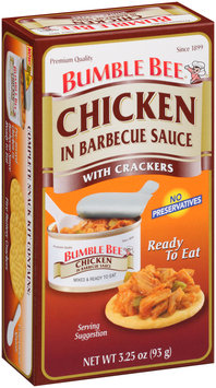 Bumble Bee® Chicken in Barbecue Sauce with Crackers Kit 3.25 oz. Box