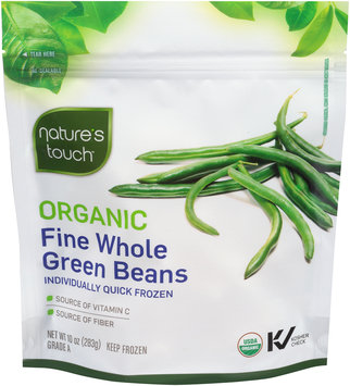 Nature's Touch™ Organic Fine Whole Green Beans 10 oz. Bag