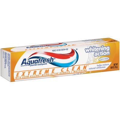 Aquafresh® Extreme Clean® Whitening Action Mint Blast Fluoride Toothpaste 0.8 oz. Box