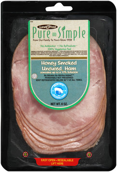 Land O' Frost® Pure and Simple Honey Smoked Uncured Ham