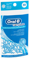Oral-B Complete Icy Cool Mint Floss Picks 30 ct Pouch
