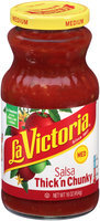 La Victoria® Medium Thick'n Chunky Salsa 16 oz. Jar