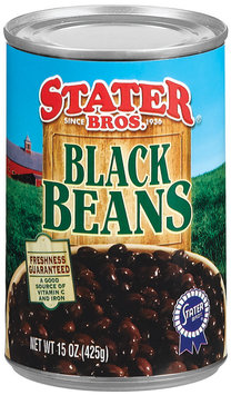 Stater Bros.  Black Beans 15 Oz Can