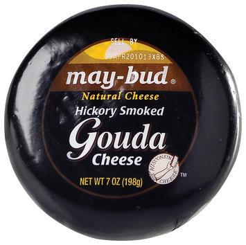 May-Bud Gouda Hickory Smoked Natural Cheese 7 Oz Wheel