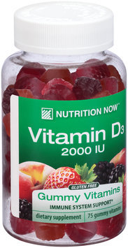 Nutrition Now™ Vitamin D3 2000 IU Dietary Supplement Gummy Vitamins 75 ct Bottle