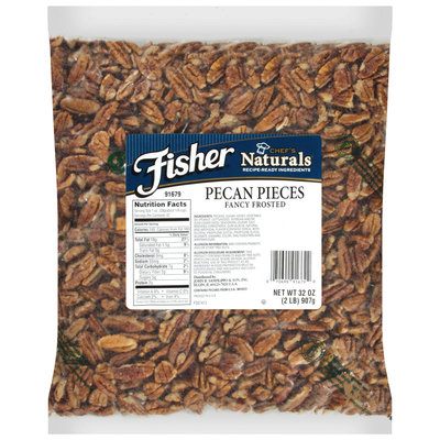 Fisher® Chef's Naturals® Fancy Frosted Pecan Pieces 32 oz. Bag