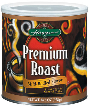 Haggen Premium Roast Mild-Bodied Coffee 34.5 Oz Canister