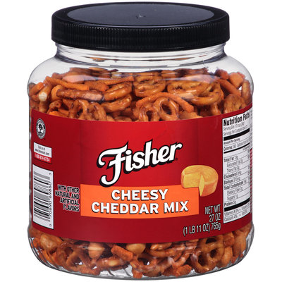 Fisher® Cheesy Cheddar Mix 27 oz. Container