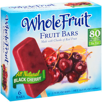 Whole Fruit® All Natural Black Cherry Fruit Bars 6 ct Box