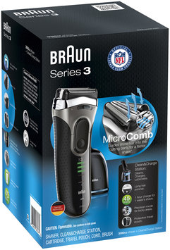 3Series Braun Series 3 3090 Rechargeable Electric Foil Shaver with Clean&Charge Station