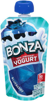 Bonza™ Blueberry One-Handed™ Yogurt 3.5 oz. Pouch