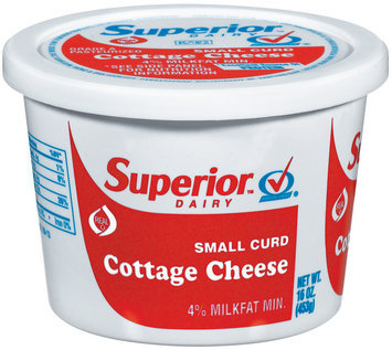 Superior Small Curd Cottage Cheese 16 Oz Plastic Tub