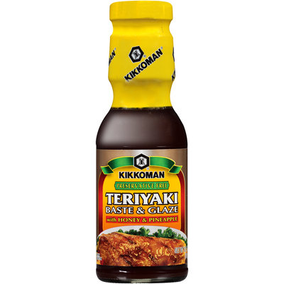 Kikkoman® Preservative Free Teriyaki with Honey and Pineapple Baste & Glaze 12.1 oz Bottle
