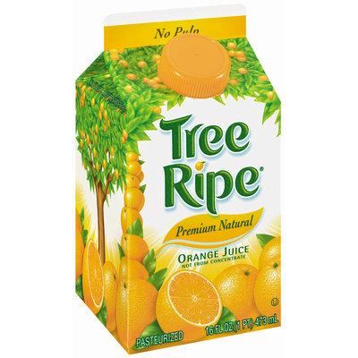 Tree Ripe Premium Natural Orange Juice 16 Oz Carton Not from Concentrate