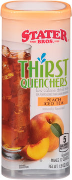 Stater Bros® Thirst Quenchers Peach Iced Tea Drink Mix 1.5 oz. Canister