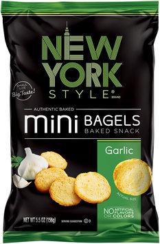 New York Style® Garlic Mini Bagels 5.5 oz. Bag