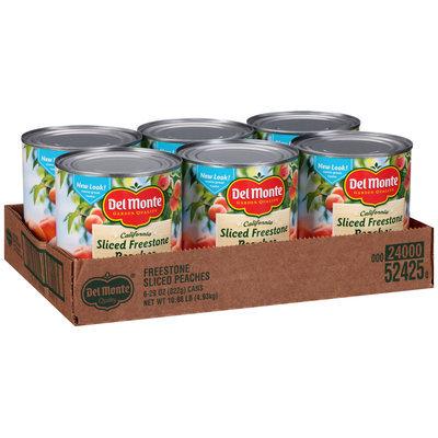 Del Monte™ California Sliced Freestone Peaches in Heavy Syrup 6-29 oz. Cans