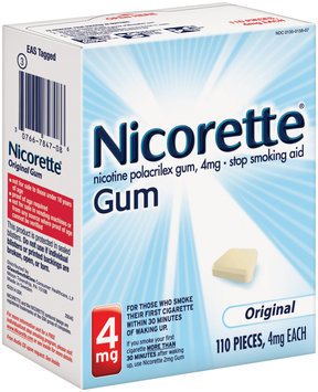Nicorette® Original Stop Smoking Gum 4mg 110 ct Box