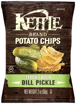Kettle Brand® Thick+Bold Dill Pickle Potato Chips 2 oz. Bag