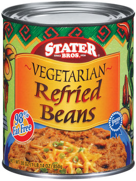 Stater Bros. Vegetarian Refried Beans 30 Oz Can