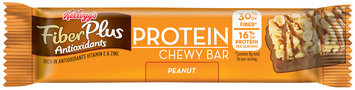 Kellogg's® FiberPlus® Antioxidants Protein Peanut Chewy Bar 1.41 oz. Pack