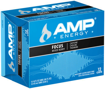 AMP® Energy Focus Mixed Berry 12 Pack 16 fl. oz. Cans