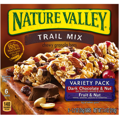 Nature Valley™ Trail Mix Chewy Granola Bars Dark Chocolate & Nut/Fruit & Nut Variety Pack