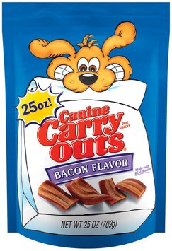 Canine Carry Outs Bacon Flavor Dog Snacks, 25-Ounce