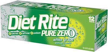 Diet Rite® Pure Zero™ White Grape Soda 12-12 fl. oz. Cans