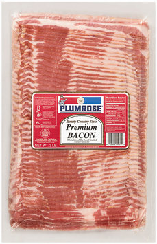 Plumrose Premium Hearty Country Style Bacon Hearty Country 3 Lb
