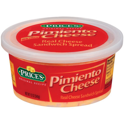 Price's Pimiento Cheese Cheese Sandwich Spread 12 Oz Tub