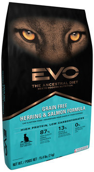 EVO Herring & Salmon Formula Cat & Kitten Food 15.4 lb. Bag