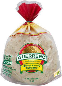 Guerrero® Soft Taco Flour Tortillas Twin Pack 48 ct Bag