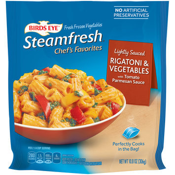 Birds Eye® Steamfresh® Chef's Favorites Rigatoni & Vegetables with Tomato Parmesan Sauce 10.8 oz. Bag