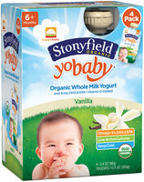 Stonyfield Organic™ YoBaby® Vanilla Yogurt 4-3.4 oz. Pouches