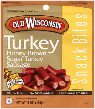 Old Wisconsin® Snack Bites Honey Brown Sugar Turkey Sausage 6 oz. Peg