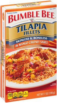 Bumble Bee® Tilapia Fillets in Mango Chutney Sauce 7 oz. Box