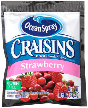 Ocean Spray® Craisins Strawberry Dried Cranberries 1.16 oz. Pouch