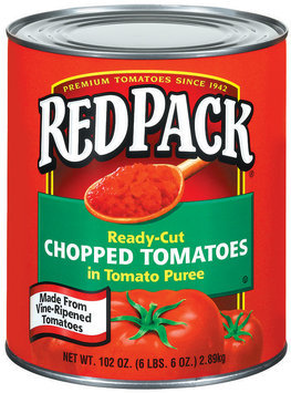 RedPack Chopped Ready-Cut In Tomato Puree Tomatoes 102 Oz Can