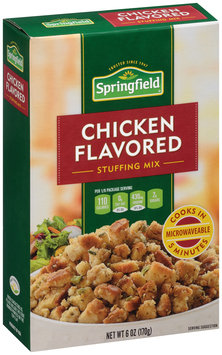 Springfield® Chicken Flavored Stuffing Mix 6 oz. Box