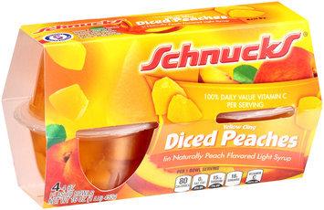 Schnucks® Yellow Cling Diced Peaches 4-4 oz. Cups