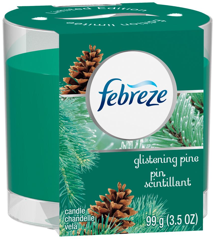 Febreze® Glistening Pine Air Freshener Candle 3.5 oz. Sleeve
