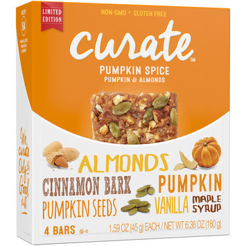 Curate™ Pumpkin Spice Pumpkin & Almonds Snack Bars 4-1.59 oz. Bars